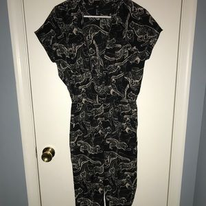 Jumpsuit with animal print